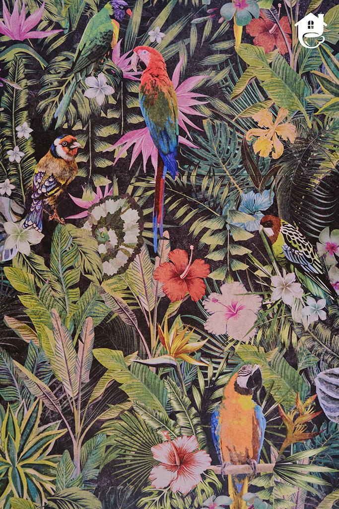 płytki ceramiczne z motywem dżungli